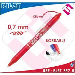 PILOT FRIXION BOLIGRAFO CLICKER TINTA ROJA COLOR ROJO BLRT-FR7-R BORRABLE 0,7MM