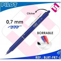 PILOT FRIXION BOLIGRAFO CLICKER TINTA AZUL COLOR CIAN BLRT-FR7-L BORRABLE 0,7MM