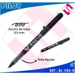 PILOT ROTULADOR ROLLER V BALL 5 COLOR NEGRO BOLA 0,5MM TRAZO 0,3MM TINTA LIQUIDA