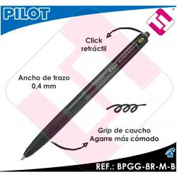 PILOT BOLIGRAFO RETRACTIL SUPERGRIP G NEGRO BOLA 1MM TRAZO 0,4 TINTA BASE ACEITE