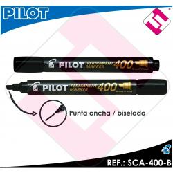 PILOT MARCADOR PUNTA ANCHA BISELADA COLOR NEGRO PERMANENTE TODAS LAS SUPERFICIES