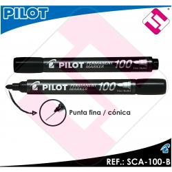 PILOT MARCADOR PUNTA FINA CONICA COLOR NEGRO PERMANENTE LINEA DE 4MM A 4,5 MM