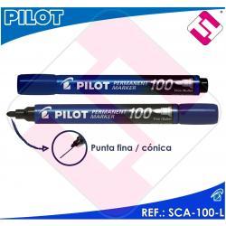PILOT MARCADOR PUNTA FINA CONICA COLOR AZUL PERMANENTE LINEA DE 4MM A 4,5 MM