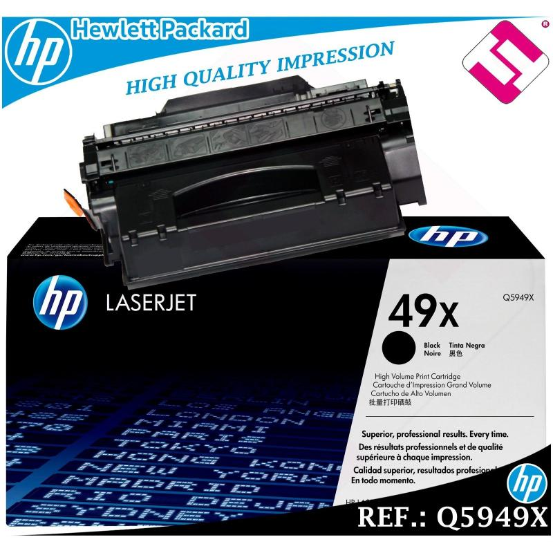 TONER NEGRO Q5949X 5949X 49X XL ORIGINAL PARA IMPRESORAS HP HEWLETT PACKARD
