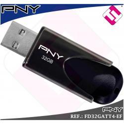 MEMORIA USB PENDRIVE 32GB 2.0 MODELO ATTACHE4 FABRICANTE PNY TOP OFERTA OFERTON