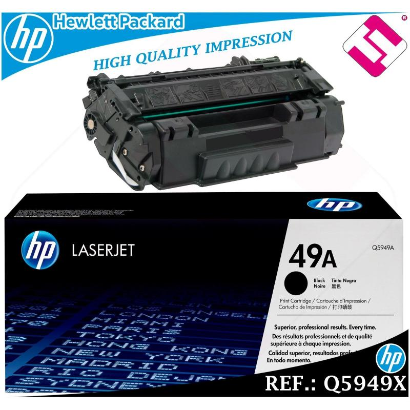 TONER NEGRO Q5949A 5949A 49A ORIGINAL PARA IMPRESORAS HP HEWLETT PACKARD
