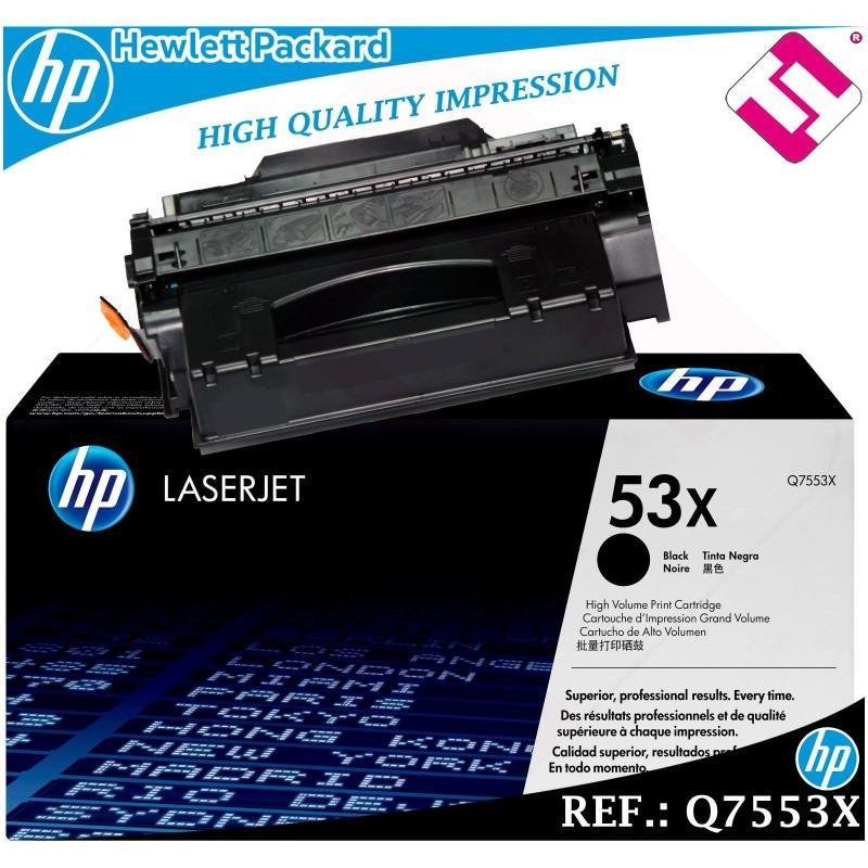 TONER NEGRO Q7553X 7553X 53X XL ORIGINAL IMPRESORAS HP HEWLETT PACKARD GENUINE