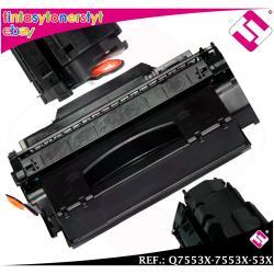 TONER NEGRO Q7553X - 7553X - 53X XL compatible para impresoras HP NO ORIGINAL
