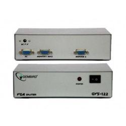 MULTIPLICADOR GEMBIRD GVS122 DIVISOR VGA 2 MONITORES COLOR BLANCO DUPLICADOR
