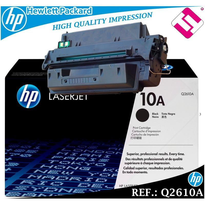 TONER NEGRO Q2610A 2610A 10A ORIGINAL PARA IMPRESORAS HP HEWLETT PACKARD GENUINE