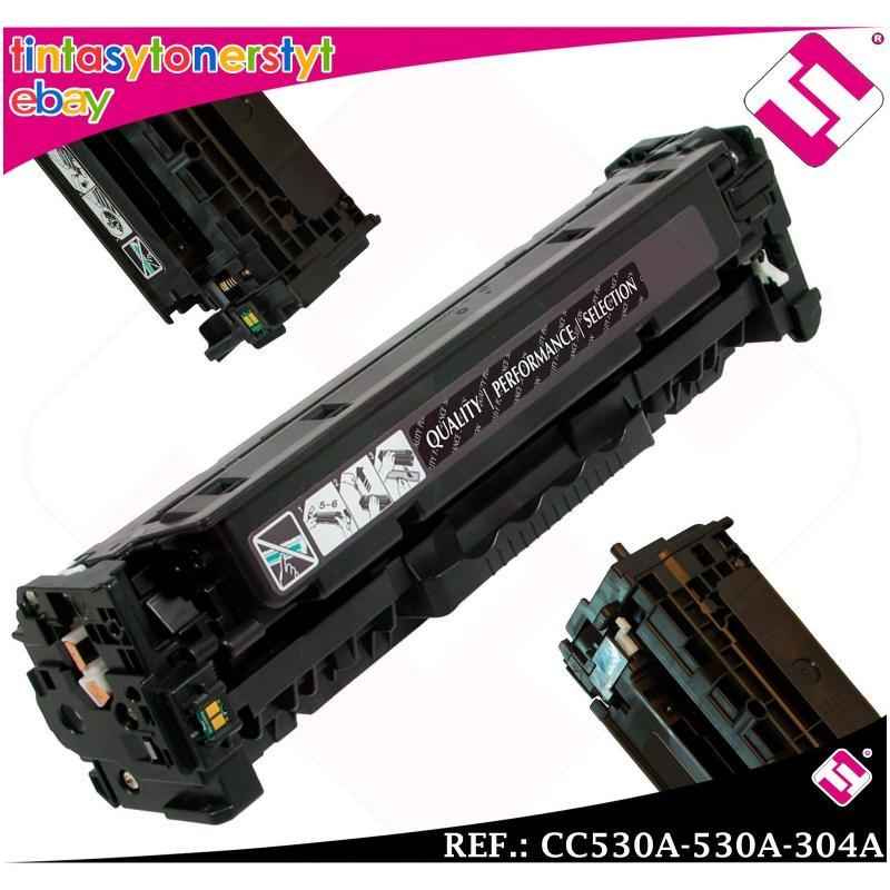 TONER NEGRO CC530A 530A 304A COMPATIBLE PARA IMPRESORAS NONOEM HP NO ORIGINAL