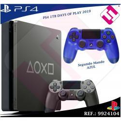 DAYS OF PLAY PS4 1TB 2019 PLAYSTATION 4 EDICION LIMITADA + SEGUNDO MANDO AZUL