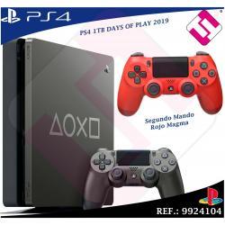DAYS OF PLAY PS4 1TB 2019 PLAYSTATION 4 + 1 MANDO DUALSHOK ROJO NEGRO 100% SONY