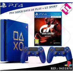 PS4 500GB + 2 MANDOS PLAYSTATION 4 + 1 JUEGO GRAN TURISMO GT SPORT COLECCIONISTA