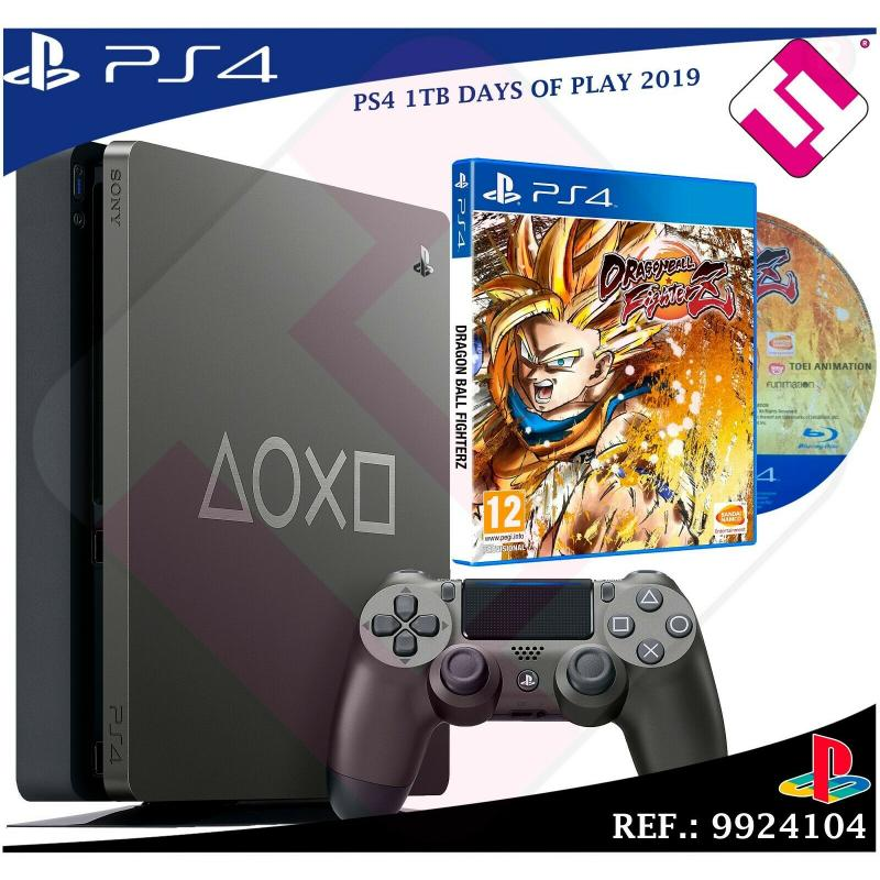 VIDEOCONSOLA DAYS OF PLAY PS4 1TB 2019 PLAYSTATION 4 + 1 DRAGON BALL FIGHTERZ