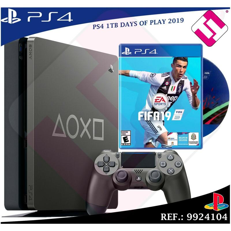 VIDEOCONSOLA DAYS OF PLAY PS4 1TB 2019 PLAYSTATION 4 + 1 FIFA 2019 JUEGO FISICO