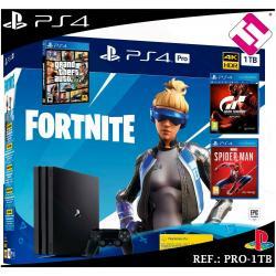 PS4 PLAYSTATION 4 PRO 1TB NEGRA FORNITE 2019 SPIDERMAN GTA V GRAN TURISMO SPORT