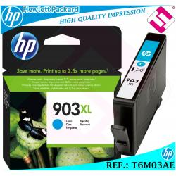 TINTA CIAN 903XL ORIGINAL IMPRESORAS HP CARTUCHO CYAN HEWLETT PACKARD T6M03AE