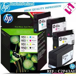 PACK TINTA 950XL 951XL ORIGINAL IMPRESORAS HP CARTUCHO HEWLETT PACKARD C2P43AE