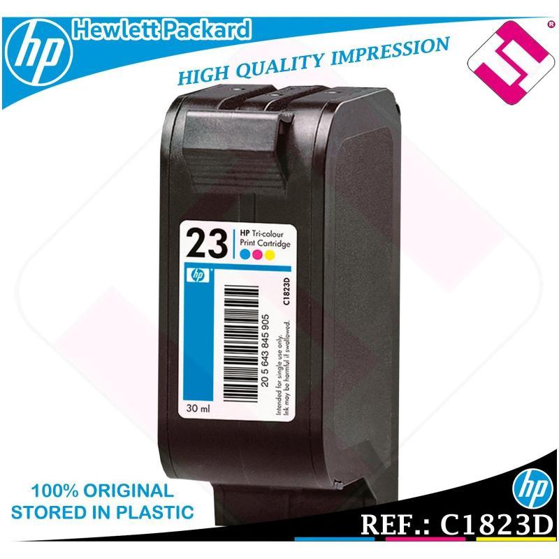 TINTA 23 TRICOLOR ORIGINAL PARA IMPRESORAS HP CARTUCHO HEWLETT PACKARD C1823D
