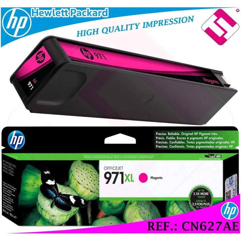 TINTA MAGENTA 971XL ORIGINAL IMPRESORAS HP CARTUCHO HEWLETT PACKARD CN627AE