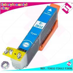TINTA CIAN T2632 T2612 26XL COMPATIBLE IMPRESORAS NONOEM EPSON CARTUCHO AZUL