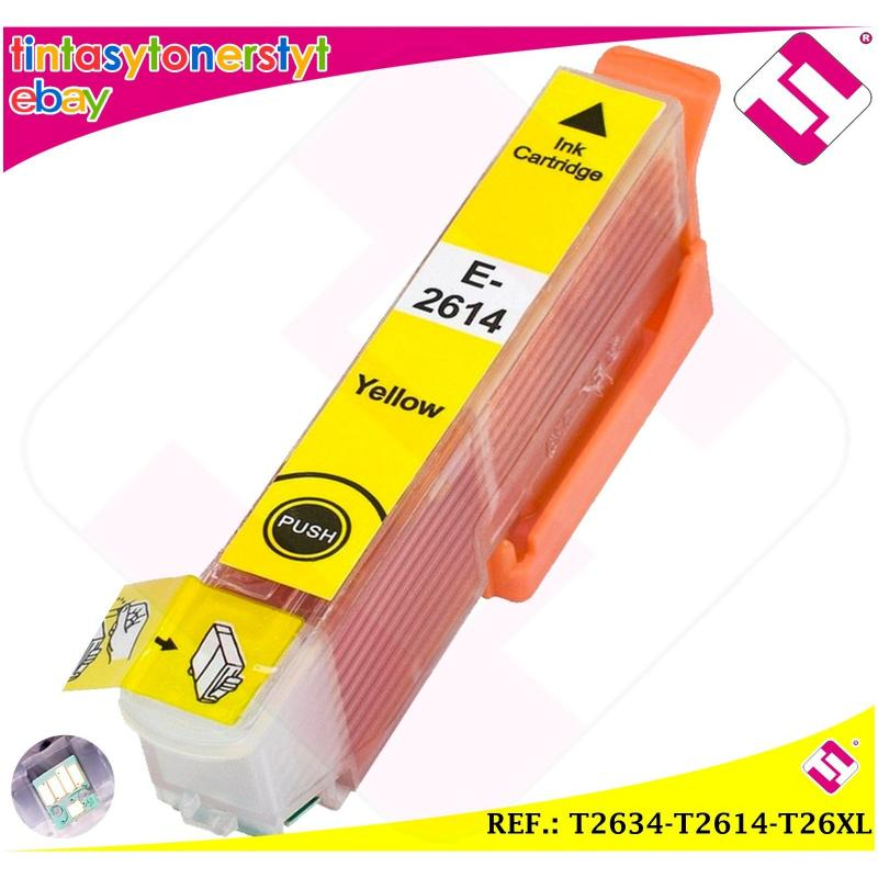 TINTA AMARILLA T2634 T2614 26XL COMPATIBLE NONOEM EPSON CARTUCHO AMARILLO