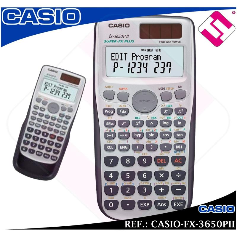 CALCULADORA CASIO SUPER FX PLUS 3650PII TECNICA CIENTIFICA UNIVERSIDAD ORIGINAL