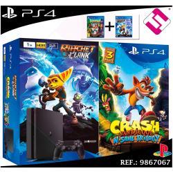 VIDEOCONSOLA PS4 PLAYSTATION 4 1TB CRASH BANDICOOT N'SANE TRILOGY RATCHET CLANK