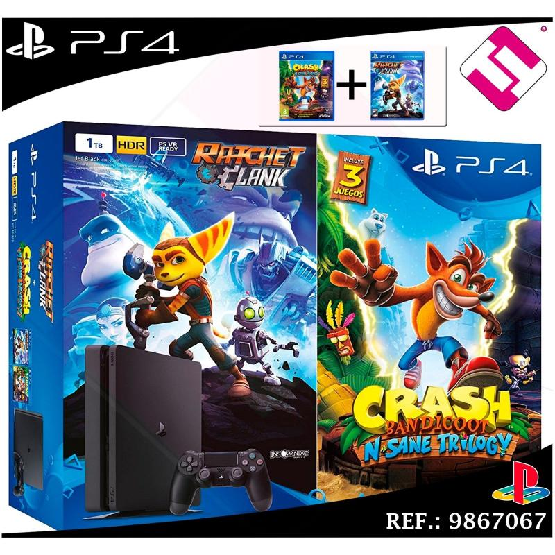 VIDEOCONSOLA PS4 PLAYSTATION 4 1TB CRASH BANDICOOT N'SANE TRILOGY RATCHET CLANK