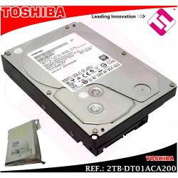 DISCO DURO TOSHIBA 2TB 3.5 SERIAL ATA 3 INTERNO 7200 RPM DT01ACA200 2000GB 2 TB