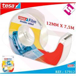 CINTA DOBLE CARA TRANSPARENTE TESA 12MM X 7,5 METROS TRABAJOS PROFESIONALES