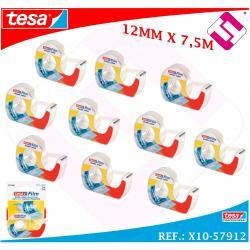 X10 CINTAS DOBLE CARA TRANSPARENTE TESA 12MM X 7,5 METROS TRABAJOS PROFESIONALES