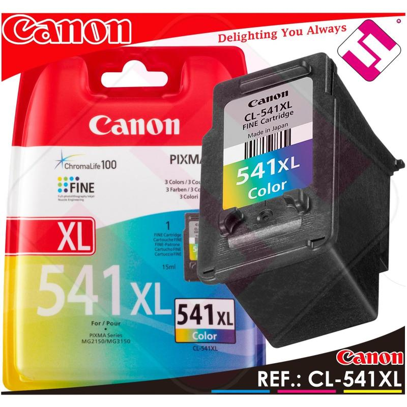 TINTA COLOR CANON CL 541 XL ORIGINAL CARTUCHO TRICOLOR IMPRESORA CL-541XL AHORRO