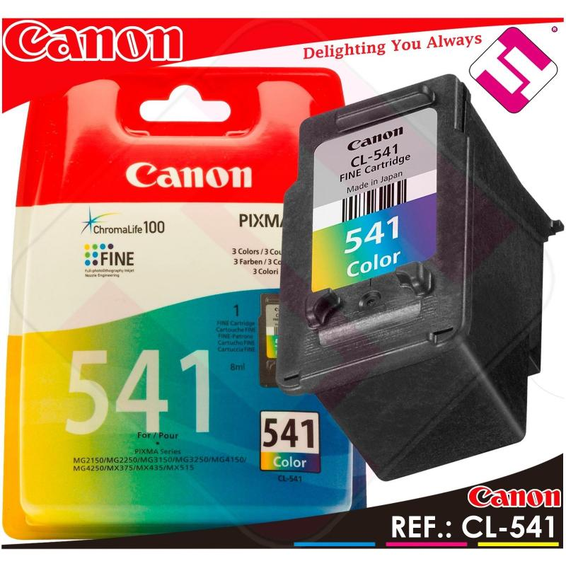 TINTA COLOR CANON CL 541 ORIGINAL CARTUCHO TRICOLOR IMPRESORA CL-541 ECONOMICO