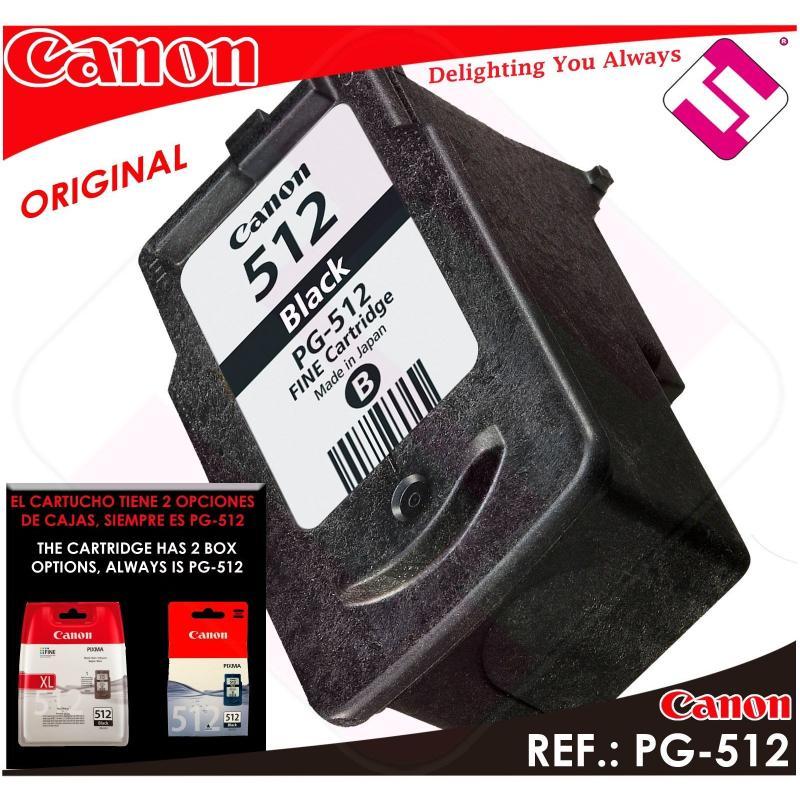 TINTA NEGRA CANON PG 512 XL ORIGINAL CARTUCHO NEGRO IMPRESORA PG-512XL AHORRO