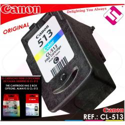 TINTA COLOR CANON CL 513 XL ORIGINAL CARTUCHO TRICOLOR IMPRESORA CL-513XL AHORRO