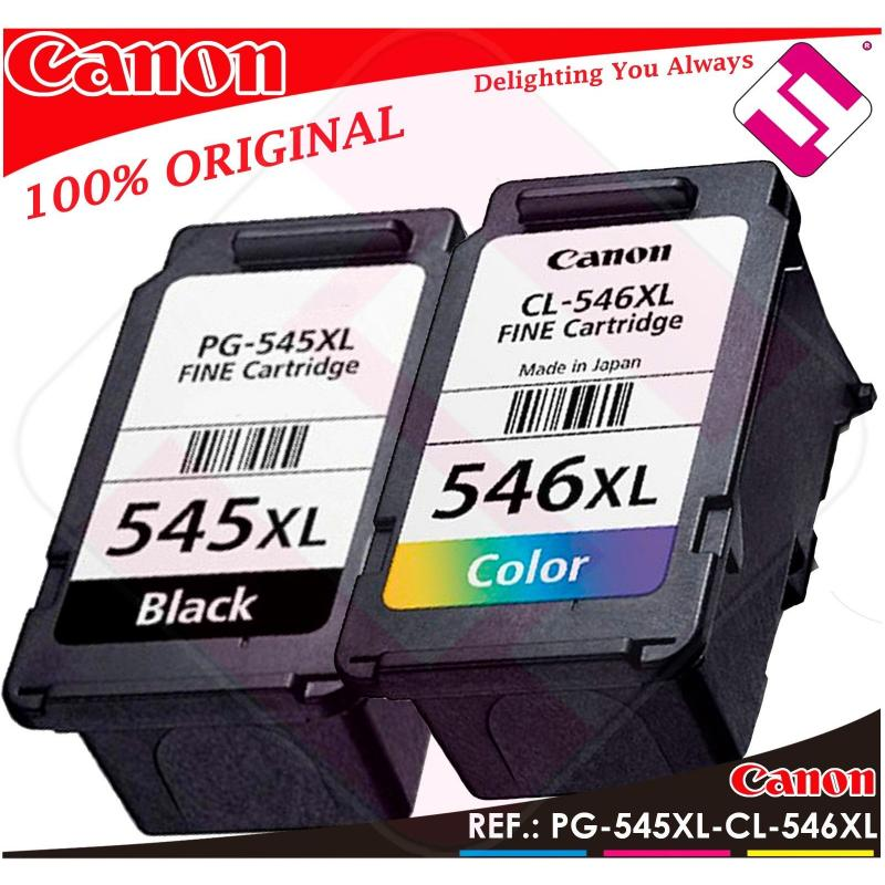 PACK TINTA CANON PG 545 XL CL 546 XL NEGRA COLOR ORIGINAL CARTUCHO PG-545 CL-546