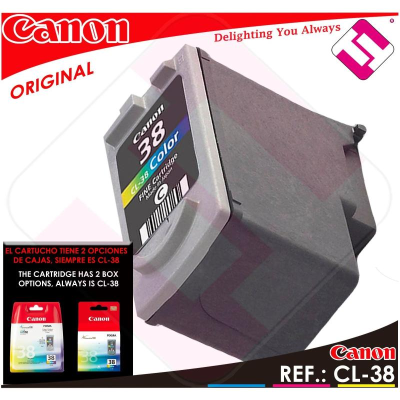 TINTA COLOR CANON CL 38 ORIGINAL CARTUCHO TRICOLOR IMPRESORA CL-38 ECONOMICO