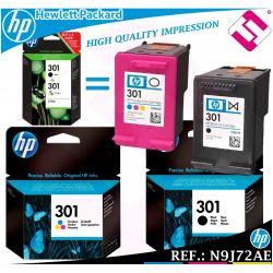 PACK TINTA NEGRA TRICOLOR 301 ORIGINAL HP CARTUCHO NEGRO COLOR HEWLETT PACKARD