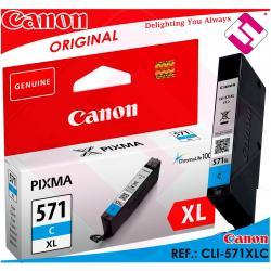 TINTA CIAN CANON CLI-571C XL ORIGINAL CARTUCHO AZUL IMPRESORA CLI-571XLC CYAN