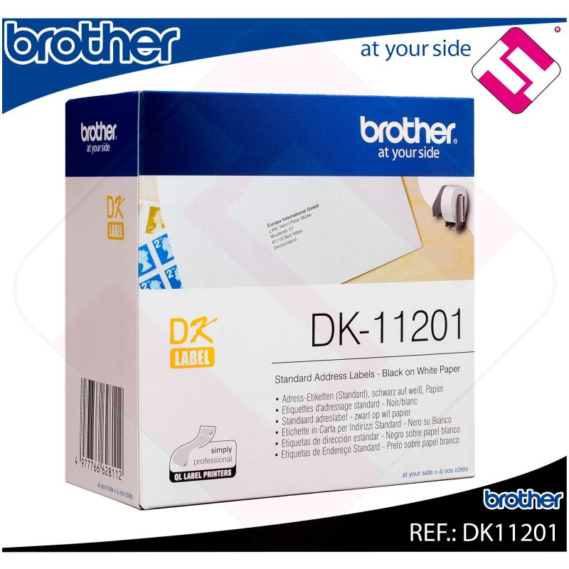 BROTHER ETIQUETA PRECORTADA PAPEL 29X90MM 400 ETIQUETAS QL-/