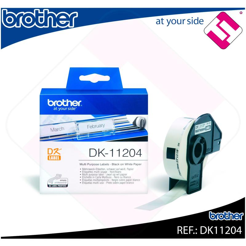 BROTHER ETIQUETA PRECORTADA PAPEL 17X54MM 400 ETIQUETAS QL-/