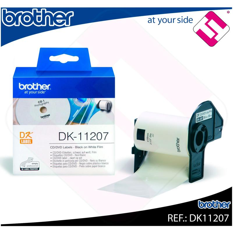 BROTHER ETIQUETA PRECORTADA PELÍCULA PLÁSTICA 58X58MM 100 ET