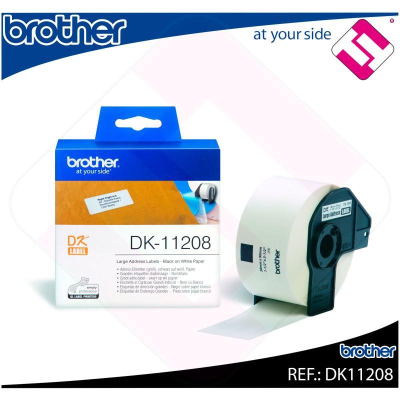 BROTHER ETIQUETA PRECORTADA PAPEL 38X90MM 400 ETIQUETAS QL/5