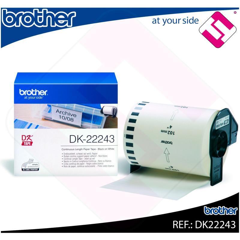 BROTHER CINTA CONTINUA BLANCA PAPEL 102MM 30.48M QL-/1050/10