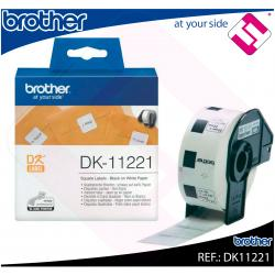 BROTHER ETIQUETA PRECORTADA PAPEL 23X23MM 1000 ETIQUETAS