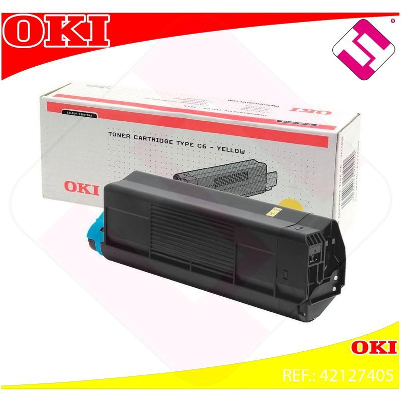 OKI TONER LASER AMARILLO TIPO C6 5.000 PAGINAS C/5100/5200/5