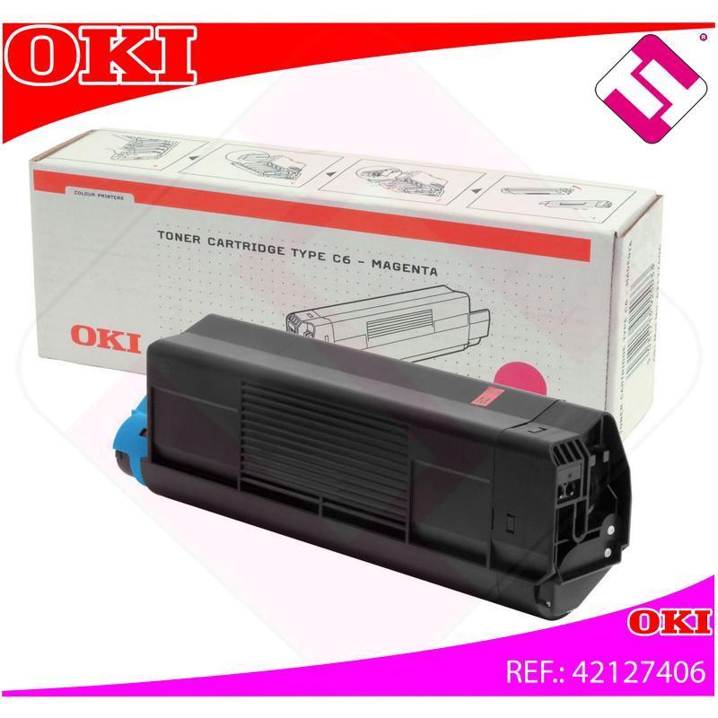 OKI TONER LASER MAGENTA TIPO C6 5.000 PAGINAS C/5100/5200/53