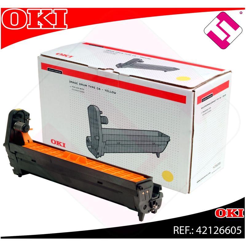 OKI TAMBOR LASER AMARILLO C6 17.000 PAGINAS C/5100/5200/5300